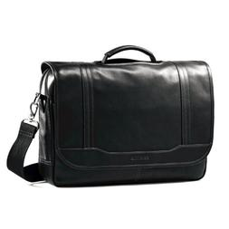 Samsonite Colombian Leather Flapover Briefcase, Black, One S