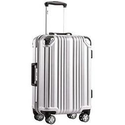 Coolife Luggage Aluminium Frame Suitcase With TSA Lock 100%