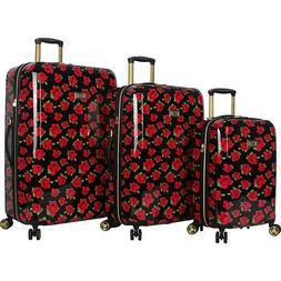 BETSEY JOHNSON Covered Roses 3 Piece Hardside Spinner Luggag