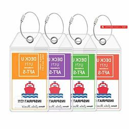 Cruise Luggage Tags - Large Tag Holders for your Cruise Ship