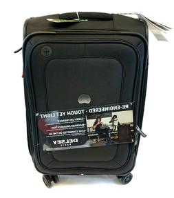 """DELSEY CRUISE SOFT 23"""" EXPANDABLE SPINNER LUGGAGE BLACK"""