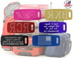 Custom Aluminum Luggage Tag - Personalized & Engraved to You