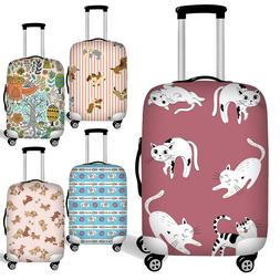 Cute Animal Women Suitcase Protect Luggage Cover Case Dust-p
