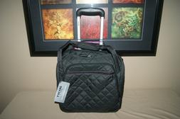 Delsey Quilted Rolling Carry-On Luggge UnderSeat Tote bag BL