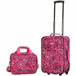 Rockland Deluxe Pink Bandana 2-piece Lightweight Expandable