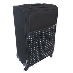 "Designlovefest 26"" Soft Side Spinner Luggage Suitcase - Blac"