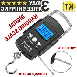 Digital Fishing Scale Portable Hanging Hook Electronic Weigh