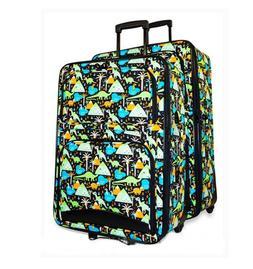 Dinosaur Print Luggage Set Wheeled Bags Rolling Suitcases-Ne