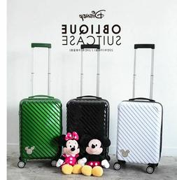"""Disney Mickey Mouse Character Suitcase Travel Bag """"20"""" Lugga"""