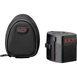 Tumi Electric Adaptor with Ballistic Pouch - Black