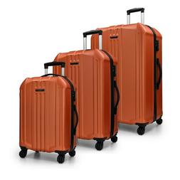 Elite Luggae Long Beach 3-Piece Orange Hardside Spinner Lugg
