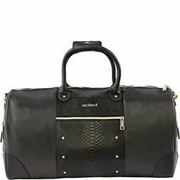 BEBE Ellisa Weekend Travel Bag for Women, Black Croc One Siz