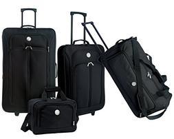 Travelers Club Luggage EVA Travel Set, Black, 1 ea