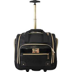 BEBE Evans Under the Seat Carry-on Rolling Tote - Black Soft