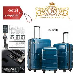 Expandable Luggage Spinner Suitcase TSA Lock 3 Piece Sets PC