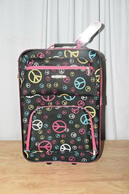 Rockland Expandable Peace Sign 2-piece Lightweight Carry-on