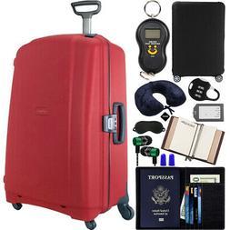 """Samsonite F'Lite GT 31"""" Spinner Zipperless Suitcase Red + Lu"""