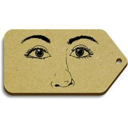 facial features gift luggage tags pack of