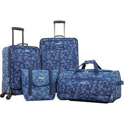 American Tourister Fieldbrook XLT 4 Piece Set - Blue Floral