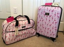 "BETSEY JOHNSON Flamingo Strut 20"" Hardside CarryOn Spinner S"
