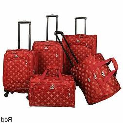 American Flyer Fleur-de-Lis 5-piece Spinner Luggage Set - 28