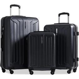 Flieks 3 Piece Luggage Set Eco-friendly Spinner Suitcase wit