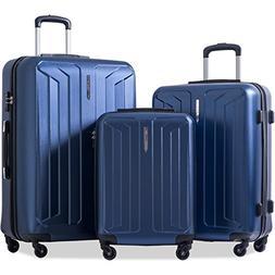 Flieks 3 Piece Luggage Set Spinner Suitcase - TSA Approved -
