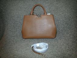 MICHAEL KORS-FLORENCE-Large Luggage Saffiano Leather Satchel