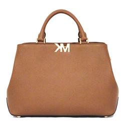 MICHAEL KORS Florence Satchel LUGGAGE Tan PURSE Leather LARG