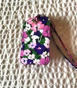 Vera Bradley Flower Garden Luggage Tag- floral -pink purple