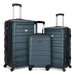 FOCHIER 3 Piece Luggage Sets Hardshell Expandable Suitcase w