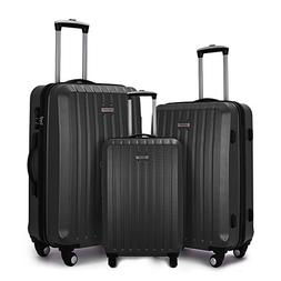 Fochier Hardside Luggage Lightweight 3 Piece Spinner Suitcas