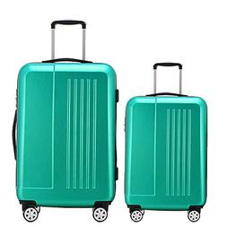 Fochier Luggage 2 Piece Set Lightweight Spinner Suitcase 20i