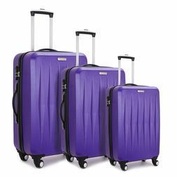 Fochier Luggage 3 Piece Set Hardshell Lightweight Spinner Su