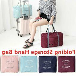 Foldable Large Duffel Bag Luggage Storage Bag Waterproof Tra