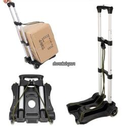 Folding Luggage Cart Suitcase Carrier Rolling Wheeled Compac