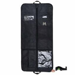 Garment Bag for Dress Suit Gusseted for Travel Storage with