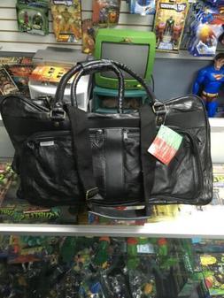 "Genuine Leather 23"" Travel Duffle Bag, Black Mens Overnight"