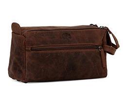 Leather Toiletry Bag for Men - Hygiene Organizer Travel Dopp