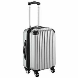 "GLOBALWAY 20"" Gray ABS Carry On Luggage Travel Bag Trolley S"