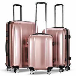 "GLOBALWAY 3 Pcs 20"" 24"" 28"" Luggage Travel Set ABS+PC Trolle"