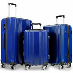 "GLOBALWAY 3Pc Luggage Set 20"" 24"" 28"" Travel Trolley Suitcas"