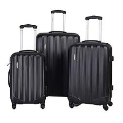 Goplus? GLOBALWAY 3 Pcs Luggage Travel Set Bag ABS Trolley S