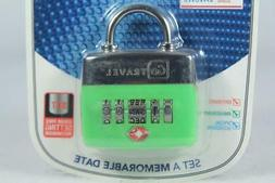 Green Luggage /Packpack/ ++ Lock By Go Travel-Ready To Set D