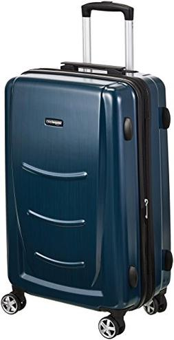 AmazonBasics Hardshell Spinner Luggage - 28-Inch, Navy Blue