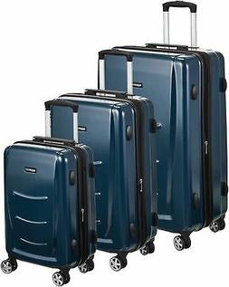 AmazonBasics Hardshell Spinner Luggage - 3-Piece Set , Navy