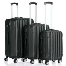 Hardside 3 Piece Nested Spinner Suitcase Luggage Set With TS