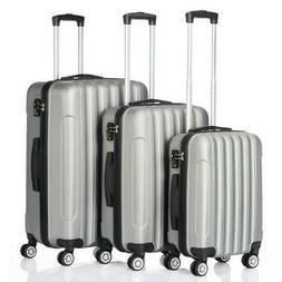 Hardside 3 Piece Nested Spinner Suitcase Travel Luggage Set