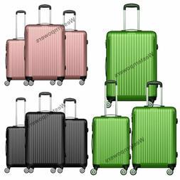 Hardside Spinner Luggage Set 3 piece Lightweight 20'' 24'' 2