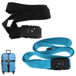 Heavy Duty TSA Approved Lock Luggage Straps Suitcase Cross B